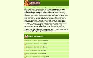 Скриншот сайта mobisa.ru