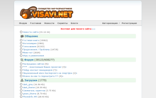 Скриншот сайта visavi.net